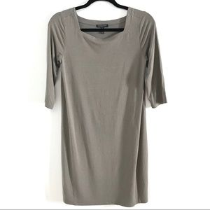 Eileen Fisher SP Taupe Square Neck Shift Dress